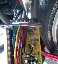 Electronics of an e-bike (throttle, controls etc.)