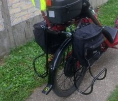 Adding a luggage rack to an electric recumbent bicycle